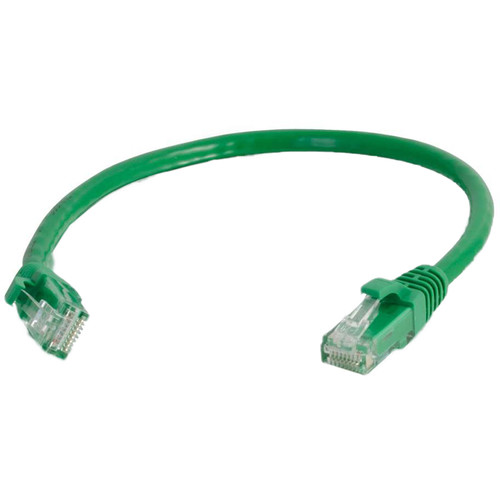 C2G RJ45 Male to RJ45 Male Cat 6 Snagless Patch Cable (2', Green)