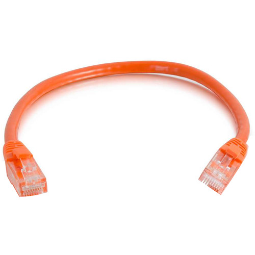 C2G RJ45 Male to RJ45 Male Cat 6 Snagless Patch Cable (30', Orange)