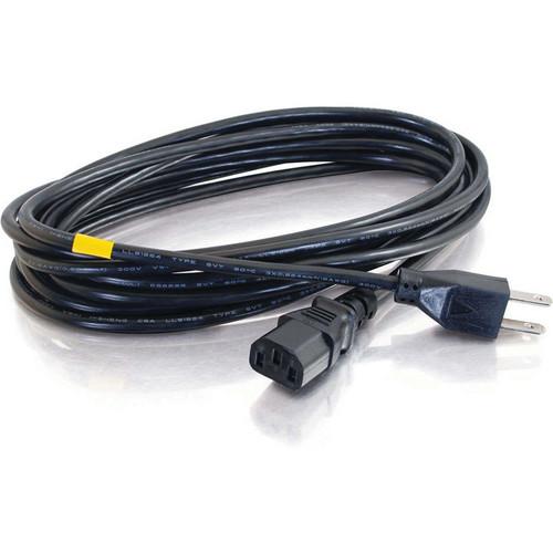 C2G 18 AWG Universal Power Cord (NEMA 5-15P to IEC C13, 15')