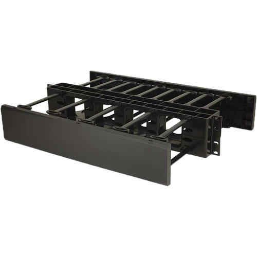 C2G 2U Double-Sided Horizontal Cable Management Panel TAA