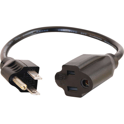 C2G 8' Outlet Saver Power Extension Cord (Male to Female)