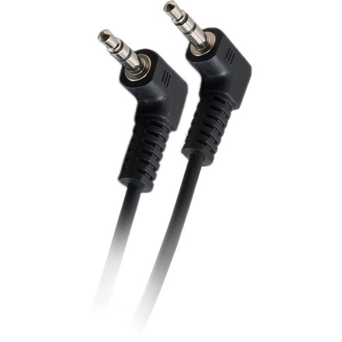 C2G 3.5mm Right-Angled M/M Stereo Audio Cable (50', Black)