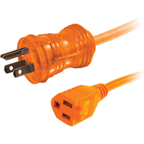C2G 50' 16 AWG Hospital Grade Power Extension Cord (NEMA 5-15P to NEMA 5-15R, Orange)