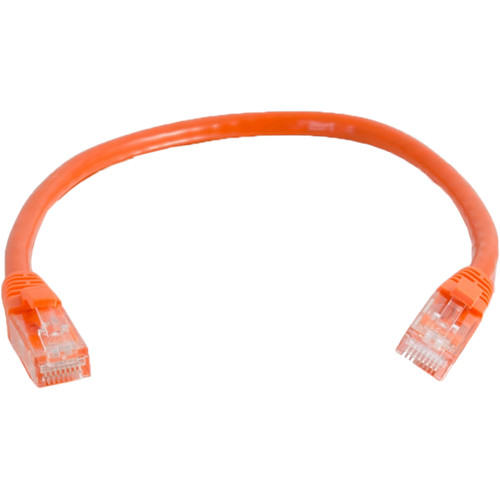 C2G 1' Cat6a Snagless Unshielded Ethernet Network Patch Cable (Orange)