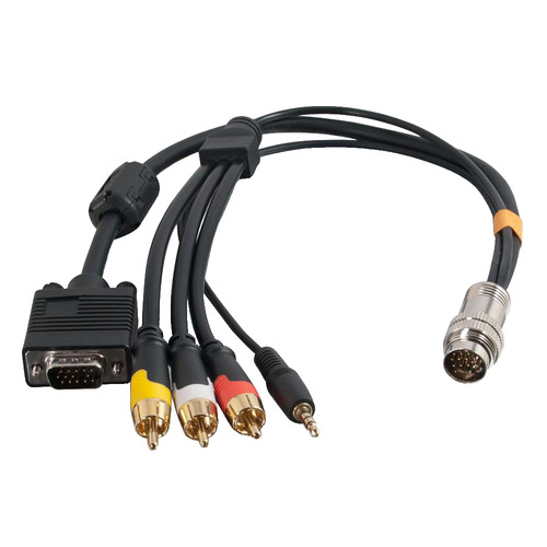 C2G RapidRun 15-Pin Male to 15-Pin VGA, 3.5mm Stereo, and RCA Video/Stereo Audio Flying Lead Cable (1.5')