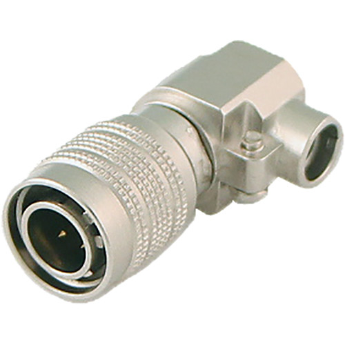 Cable Techniques 4-Pin Male DC Push-Pull Connector (Nickel, Right-Angle End)