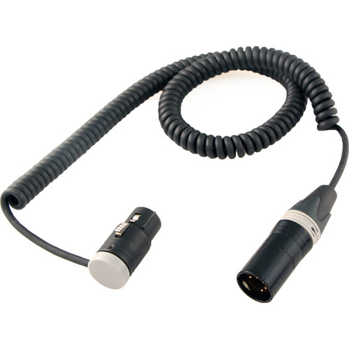 "Cable Techniques Stereo Coiled Boom-to-Mixer Cable - Low-Profile XLR 5-Pin Female to Straight XLR 5-Pin Male (18"" to 6')"
