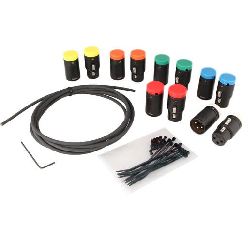 Cable Techniques Low-Profile XLR 3-Pin Cable DIY Bundle (Set of 6)