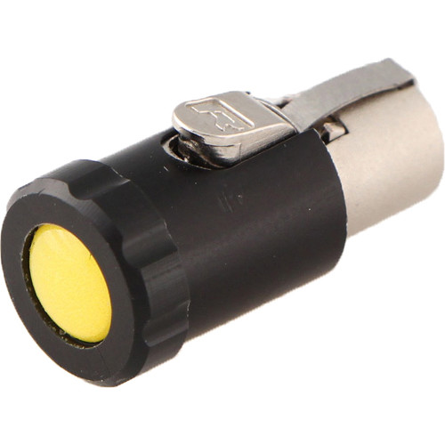 Cable Techniques Low-Profile Female TA3F Connector with 90-Degree Left Side-Exit (Yellow Polydome)