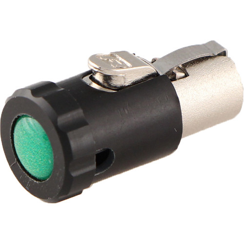 Cable Techniques CT-LPTA3-R-G Low-Profile Female TA3F Connector with 90° Right Side-Exit (Green Cap)
