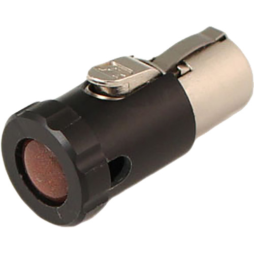 Cable Techniques CT-LPTA3-R-B Low-Profile Female TA3F Connector with 90° Right Side-Exit (Brown Cap)
