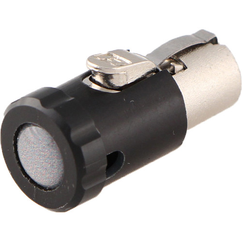 Cable Techniques Low-Profile Female TA5F Connector with 90-Degree Right Side-Exit (Gray Polydome)