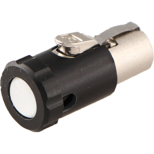 Cable Techniques Low-Profile Female TA5F Connector with 90-Degree Right Side-Exit (White Polydome)