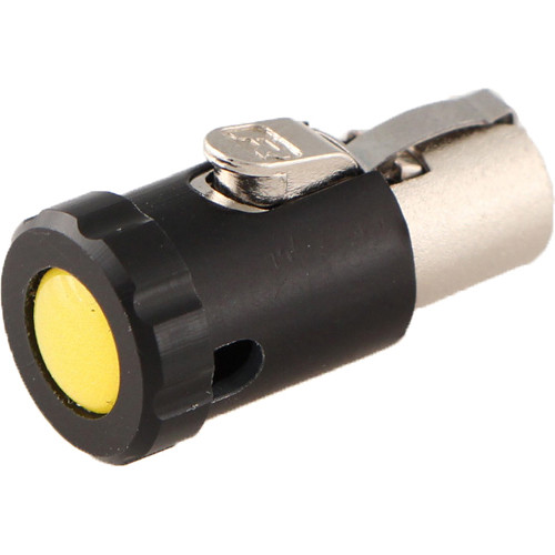 Cable Techniques Low-Profile Female TA5F Connector with 90-Degree Right Side-Exit (Yellow Polydome)