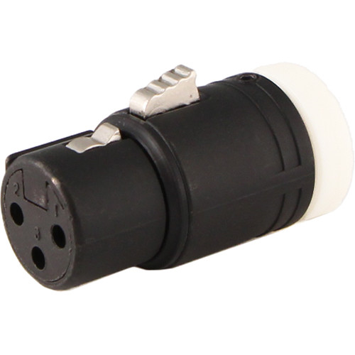 Cable Techniques CT-LPXLR-3F-W Low-Profile XLR 3-Pin Female Connector with Adjustable Side Cable-Exit (White Cap)