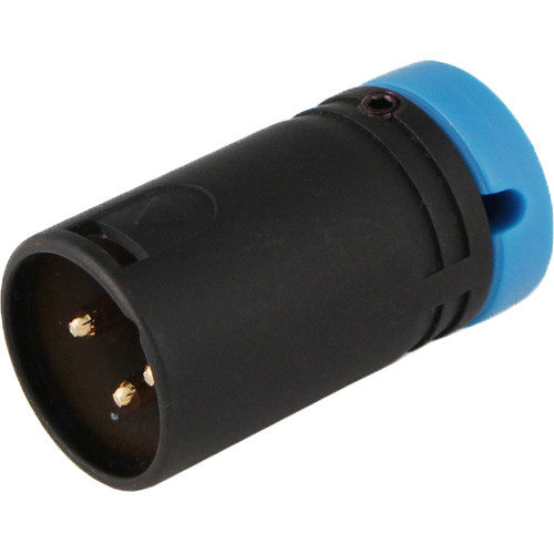 Cable Techniques CT-LPXLR-3M-B Low Profile XLR 3-Pin Male Connector with Adjustable Side Cable-Exit (Blue Cap)