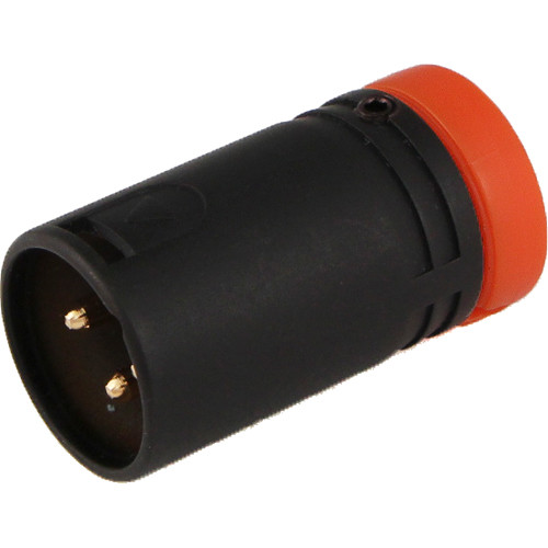 Cable Techniques CT-LPXLR-3M-N Low-Profile XLR 3-Pin Male Connector with Adjustable Side Cable-Exit (Orange Cap)