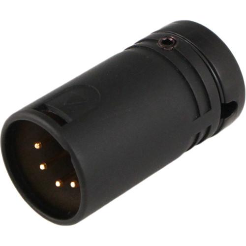 Cable Techniques Low-Profile XLR 5-Pin, Multi-Position, 90-Degree, Side-Exit Connector (Male, Black Cap)