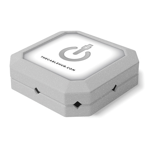 CableHub Square CableHub (Silver Metallic)