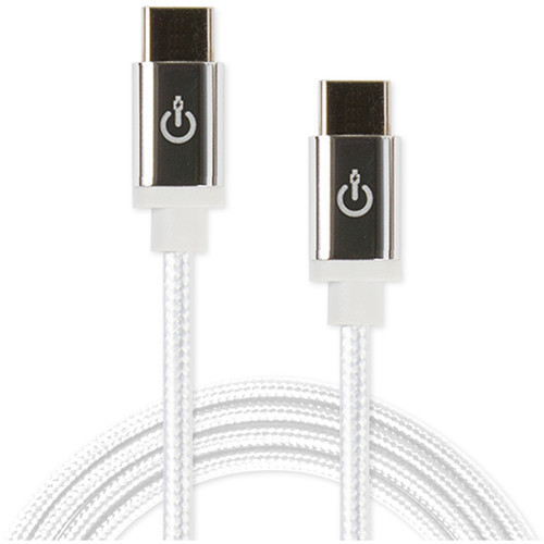 """Cablelinx Elite USB Type-C to USB Type-C Braided Cable (72"""", White)"""