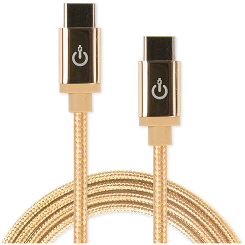 "Cablelinx Elite USB Type-C to USB Type-C Braided Cable (72"", Gold Dust)"