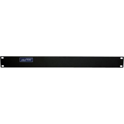 "CableTronix 19"" Rack Panel, Blank (1 RU, Black)"