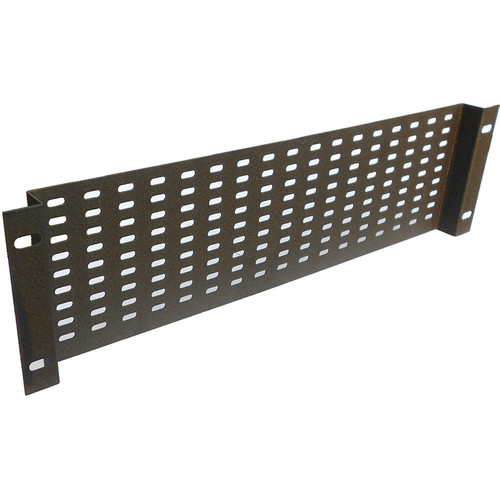 """CableTronix 19"""" Rack Panel, Slotted, Recessed (3 RU, Black)"""