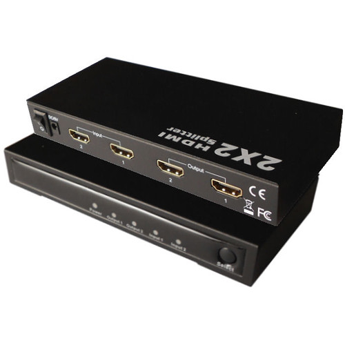 CableTronix 2 x 2 HDMI Splitter/Amplifier