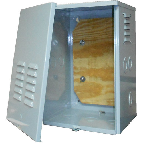 """CableTronix Metal Enclosure with Plywood Backing (18 x 12 x 11"""")"""