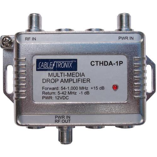 CableTronix CT-HDA-1P 1 GHz Multimedia Drop Amplifier (1 Input/1 Output)
