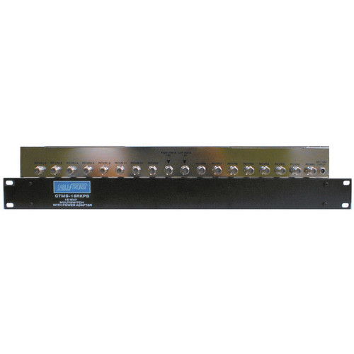 CableTronix CTMS-16RKPS 16-Channel Rack-Mountable Satellite Multiswitch with Power Supply