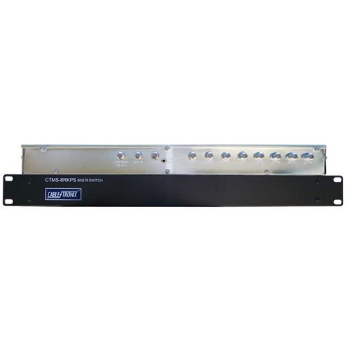 CableTronix CTMS-8RKPS 8-Channel Rack-Mountable Satellite Multiswitch with Power Supply