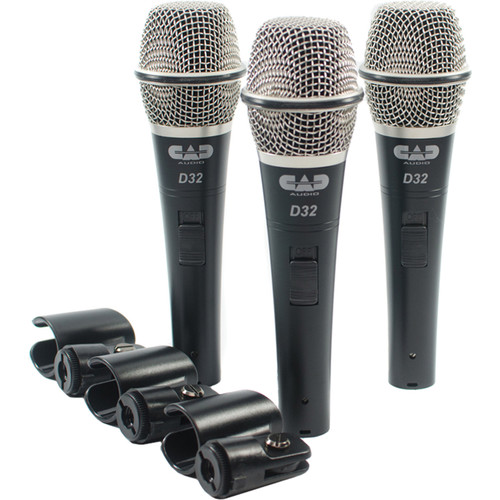 CAD CADLive D32 Supercardioid Dynamic Handheld Microphone (3 Pack)