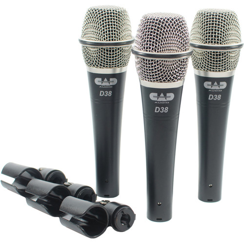 CADLive D38 Supercardioid Dynamic Handheld Microphone (3 Pack)