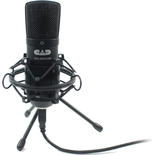CAD GLX2600USB Large Diaphragm Studio Condenser USB Microphone