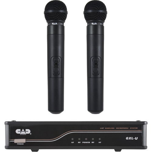 CAD UHF Dual Channel Handheld Wireless Microphone System