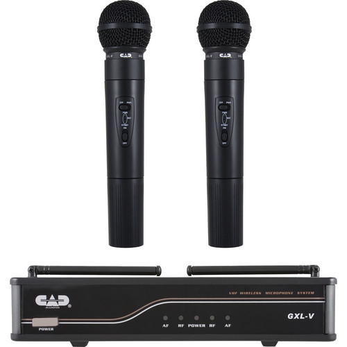 CAD VHF Dual Channel Handheld Wireless Microphone System (CH: H)