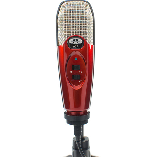 CAD U37 USB Studio Condenser Recording Microphone (Candy Apple Red)