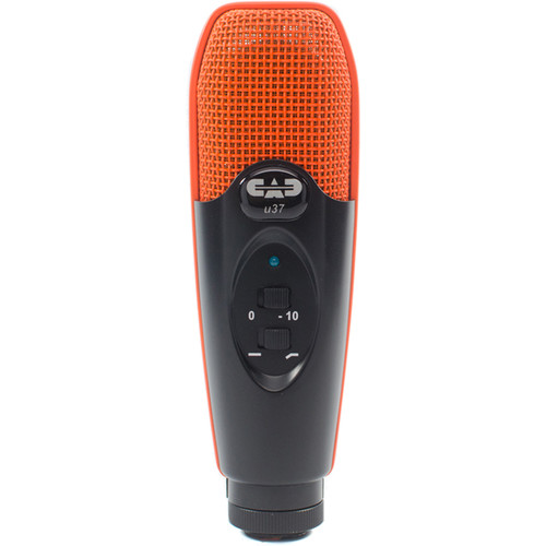 CAD U37 USB Studio Condenser Recording Microphone (Orange/Black)