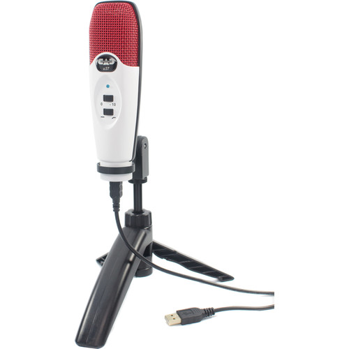 CAD U37 USB Studio Condenser Recording Microphone (Red/White)