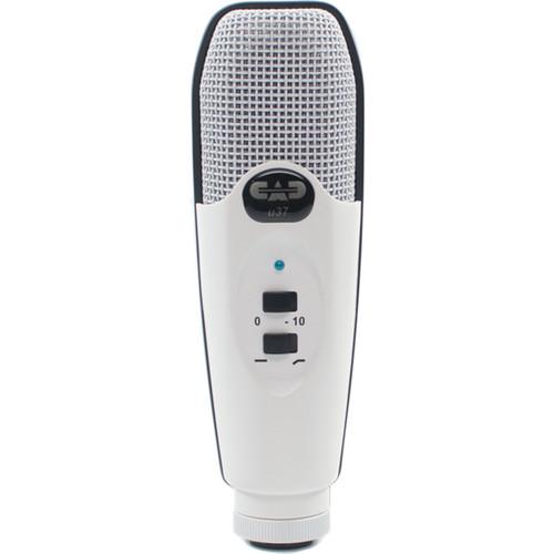 cad u37 usb studio condenser recording microphone white. Black Bedroom Furniture Sets. Home Design Ideas