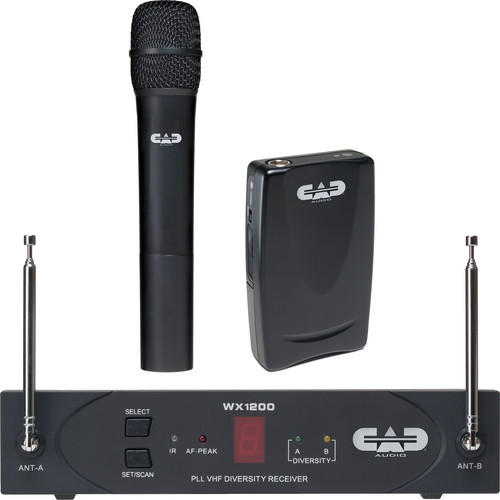 CAD StagePass WX1220 Handheld and Bodypack Wireless Microphone System