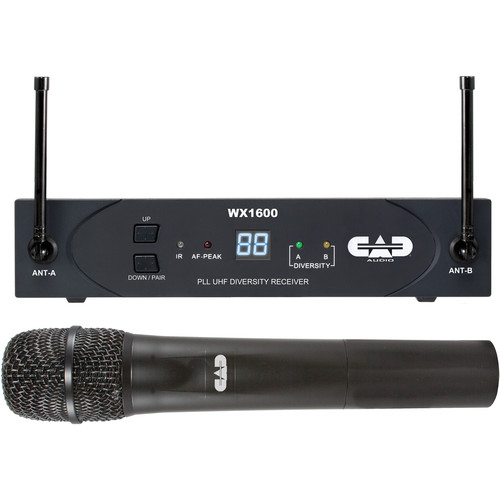 CAD WX1600 UHF 100-Channel Frequency Agile Handheld Wireless System (G: 542 to 564 MHz)