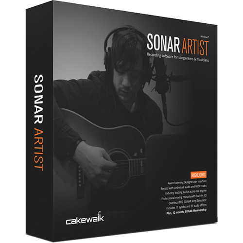 Cakewalk SONAR Artist - Audio Software (Educational Institution Discount - 5 Station Lab Pack)