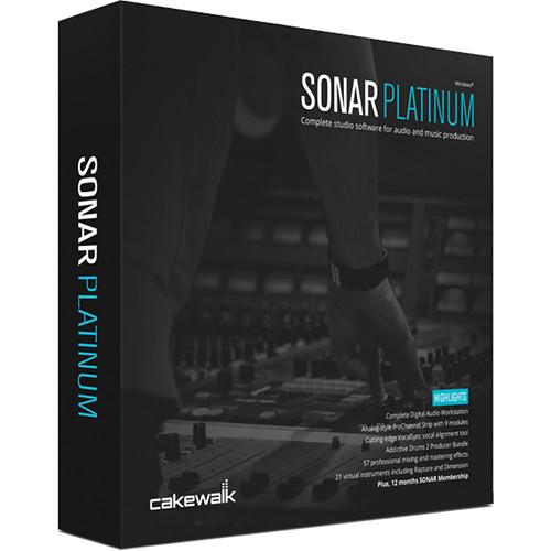 Cakewalk SONAR Platinum - Recording, Mixing, Mastering Software