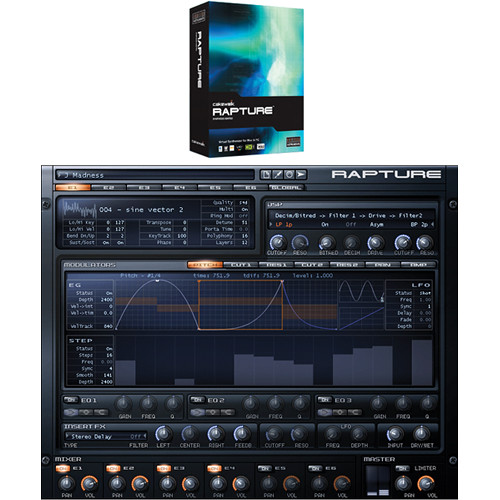 Cakewalk Rapture - Virtual Synthesizer (Download)