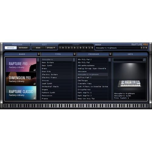 Cakewalk Rapture Pro Upgrade - Virtual Performance Synthesizer (Download)