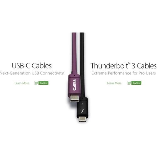 CalDigit USB 3.1 Gen 2 Type-C Cable (3.3')