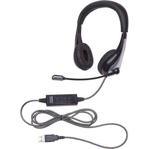 Califone NeoTech Headset,  PVC-Jacketed Cord, USB Plug, Noise-Reducing, Goosenecked Unidirectional Microphone