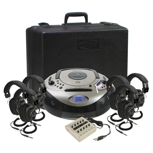 Califone 1886PLC-6 Spirit SD Multimedia AM/FM/CD Player/Cassette Recorder